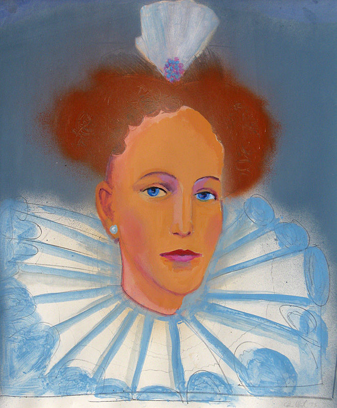 Elizabeth (Acrylic, portraits) - Fine Art by Donald G. Vogl, Fort Collins, Colorado