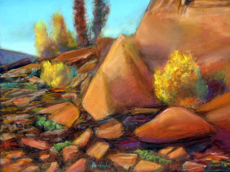 Eltuck Bay, Lory State ParkBellvue, Colorado (Pastel, landscapes) - Fine Art by Donald G. Vogl, Fort Collins, Colorado