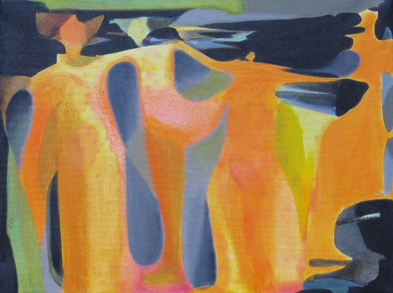 Family (Acrylic and Oil, abstracts figures) - Fine Art by Donald G. Vogl, Fort Collins, Colorado