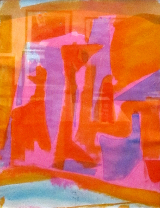Four Figures (Acrylic and Ink, abstracts figures) - Fine Art by Donald G. Vogl, Fort Collins, Colorado