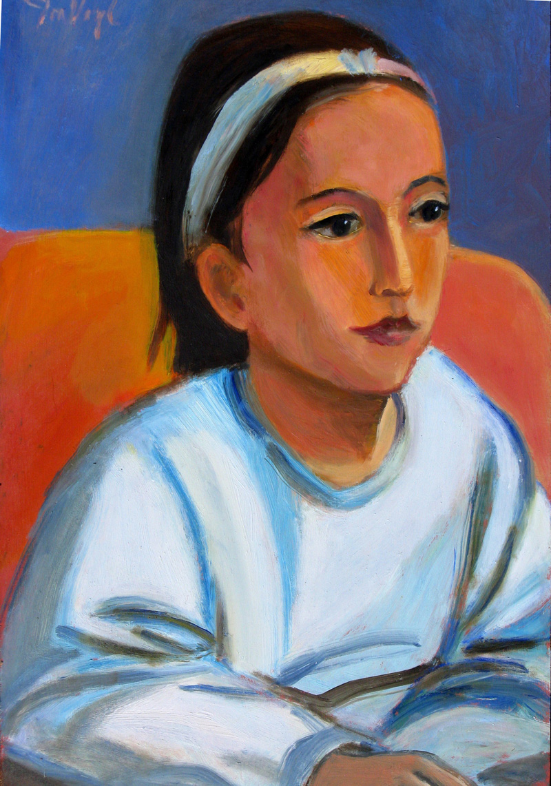 Girl (Oil, portraits) - Fine Art by Donald G. Vogl, Fort Collins, Colorado