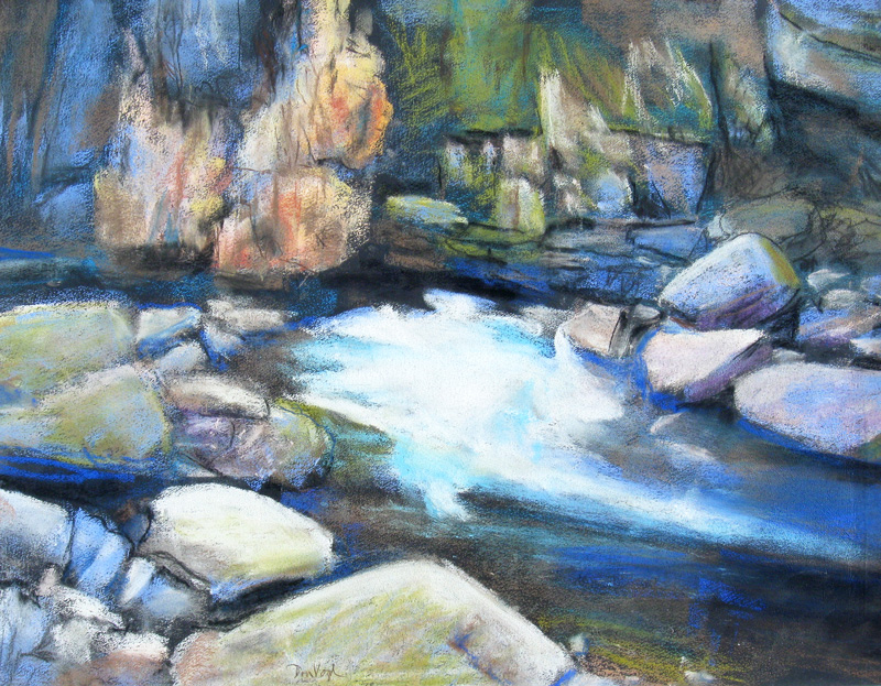 Go with the Flownear Drake, Colorado (Pastel, landscapes) - Fine Art by Donald G. Vogl, Fort Collins, Colorado