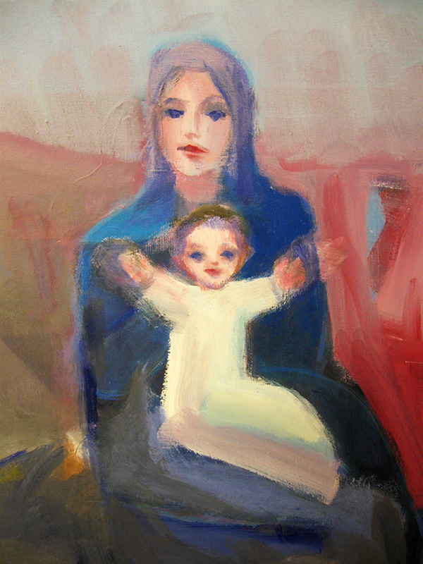 Greetings (Acrylic, portraits christian) - Fine Art by Donald G. Vogl, Fort Collins, Colorado