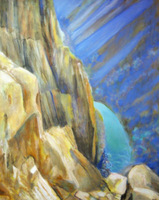 Gunnison Canyon WallsColorado (Oil, landscapes) - Fine Art by Donald G. Vogl, Fort Collins, Colorado
