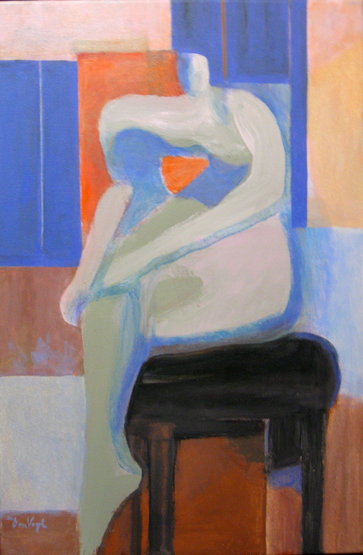 Her Knee (Acrylic, abstracts figures) - Fine Art by Donald G. Vogl, Fort Collins, Colorado