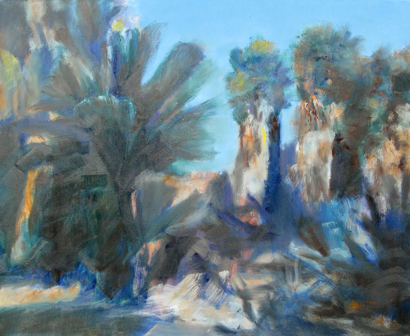 Indio PalmsCalifornia (Oil, landscapes) - Fine Art by Donald G. Vogl, Fort Collins, Colorado