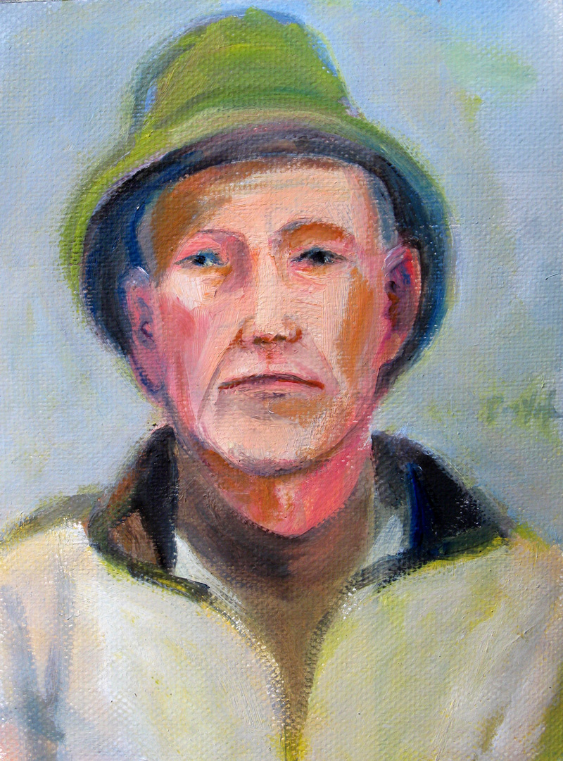Jack Full Face (Pastel, portraits) - Fine Art by Donald G. Vogl, Fort Collins, Colorado