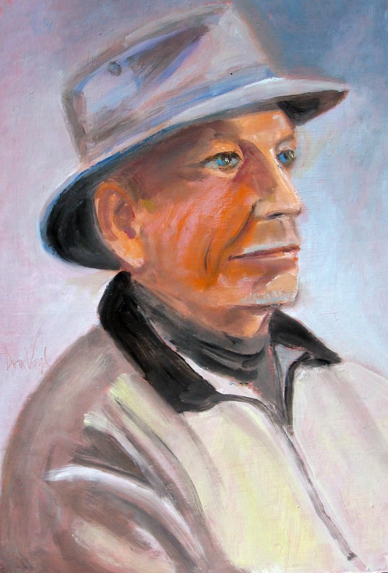 Jack Profile (Pastel, portraits) - Fine Art by Donald G. Vogl, Fort Collins, Colorado
