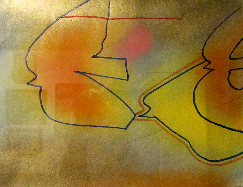The Leader (Spray Paint, Markers, abstracts figures animals) - Fine Art by Donald G. Vogl, Fort Collins, Colorado