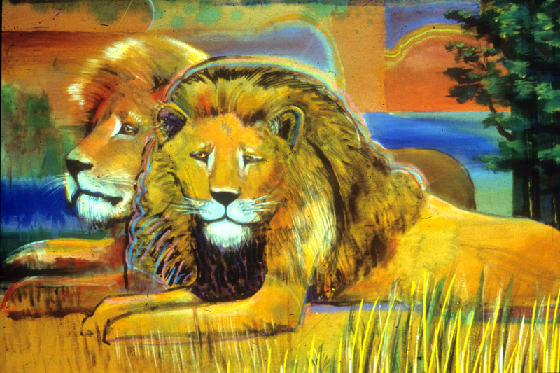Lions Cameron (Acrylic, animals) - Fine Art by Donald G. Vogl, Fort Collins, Colorado