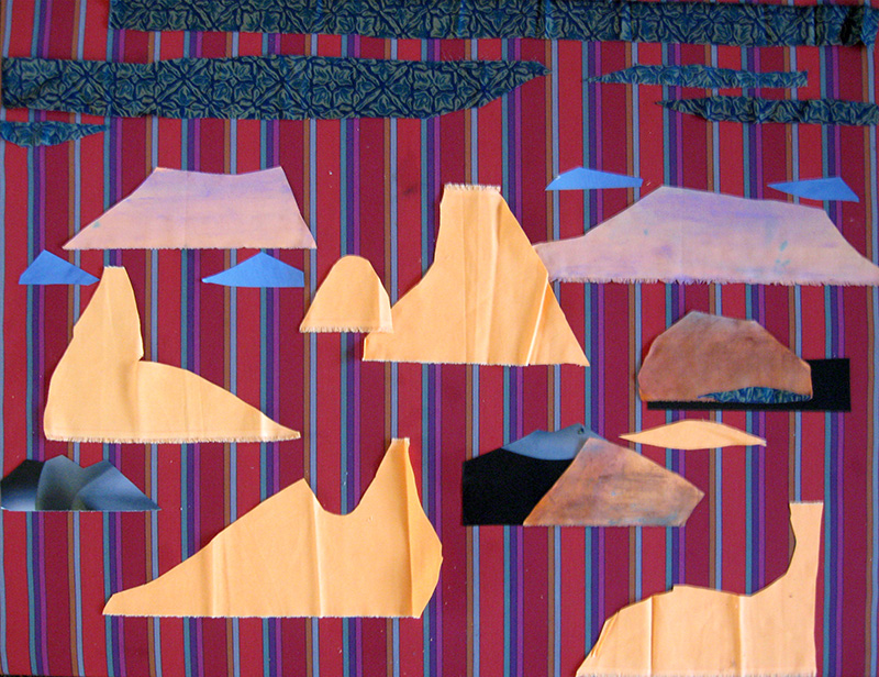 Many Mesa (Collage, abstracts) - Fine Art by Donald G. Vogl, Fort Collins, Colorado