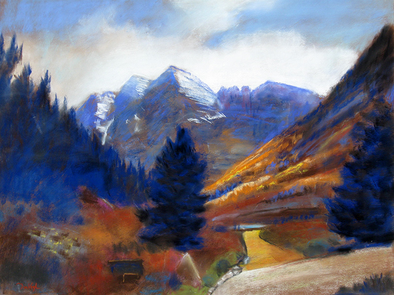 Maroon BellsColorado (Pastel, landscapes) - Fine Art by Donald G. Vogl, Fort Collins, Colorado