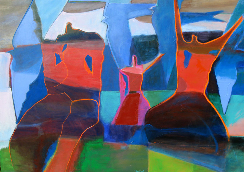 Mid Day (Acrylic, abstracts figures) - Fine Art by Donald G. Vogl, Fort Collins, Colorado