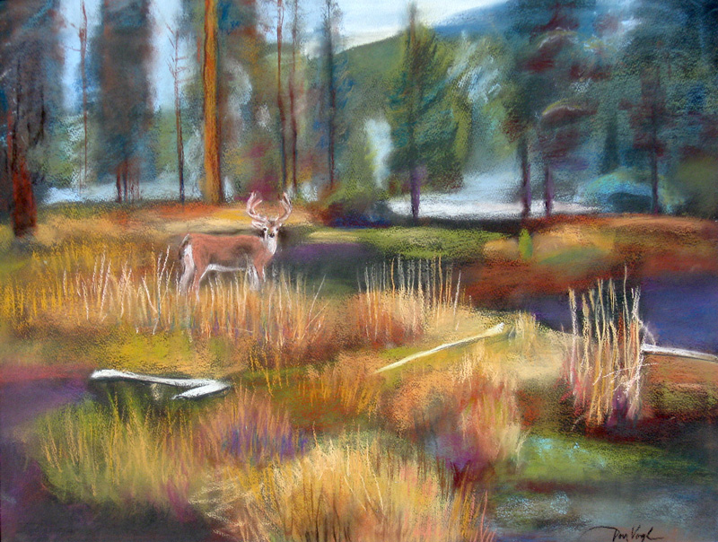Picnicnear Minturn, Colorado (Pastel, landscapes) - Fine Art by Donald G. Vogl, Fort Collins, Colorado