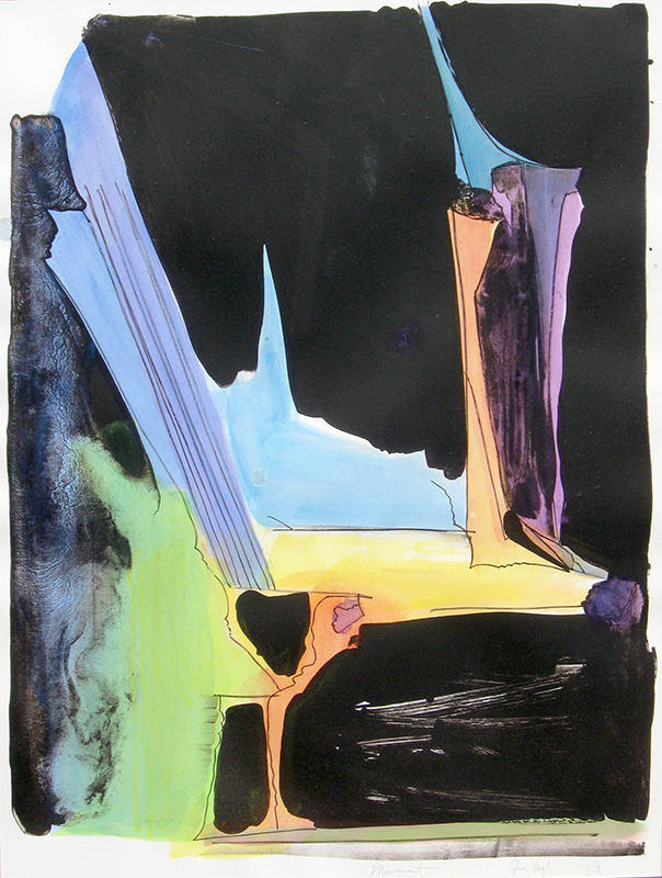 Monument (Lithograph, abstracts) - Fine Art by Donald G. Vogl, Fort Collins, Colorado
