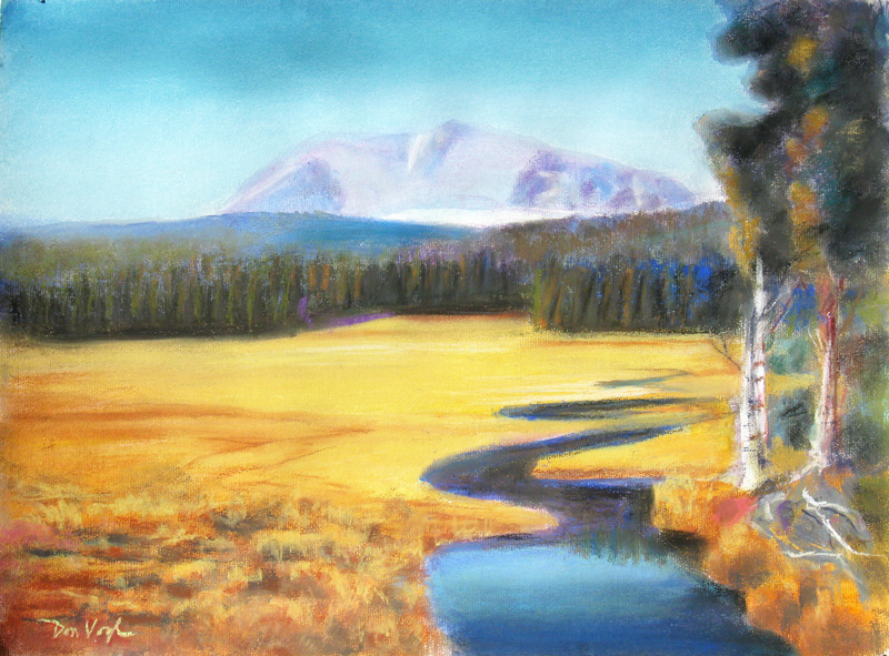 Mount Shasta PeakCalifornia (Pastel, landscapes) - Fine Art by Donald G. Vogl, Fort Collins, Colorado