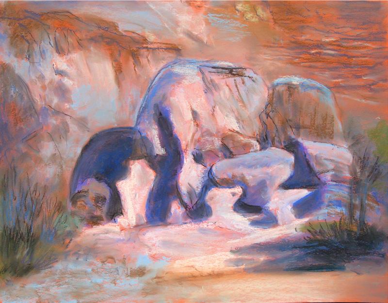Nature SculptureColorado (Pastel, landscapes) - Fine Art by Donald G. Vogl, Fort Collins, Colorado