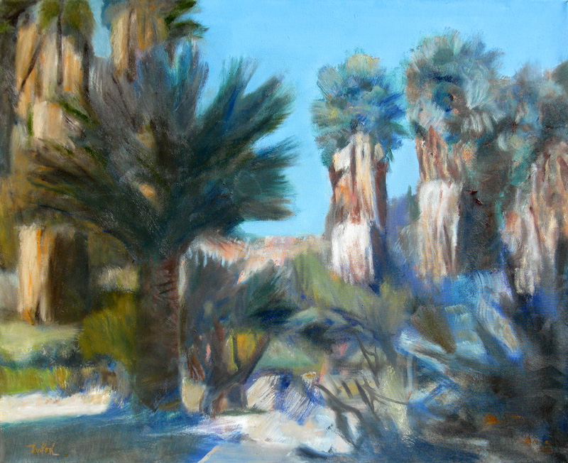 Near IndioCalifornia (Oil, landscapes) - Fine Art by Donald G. Vogl, Fort Collins, Colorado