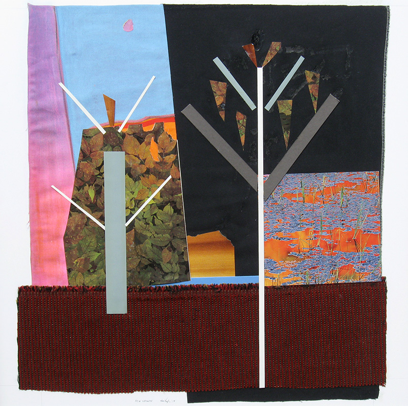 New Growth (Collage, collages) - Fine Art by Donald G. Vogl, Fort Collins, Colorado