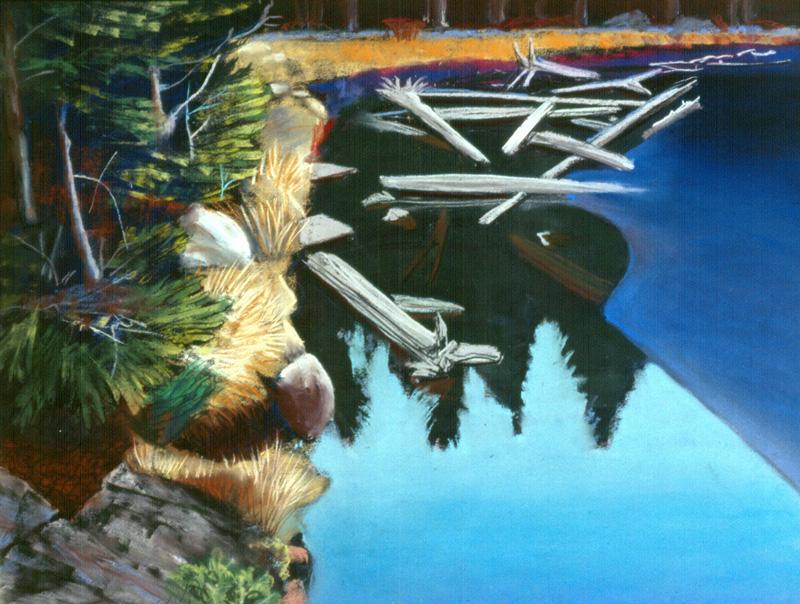 Nymph LakeRocky Mountain National Park, Colorado (Pastel, landscapes) - Fine Art by Donald G. Vogl, Fort Collins, Colorado