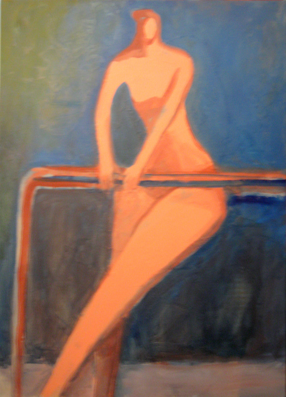 On the Bars (Acrylic, figures) - Fine Art by Donald G. Vogl, Fort Collins, Colorado