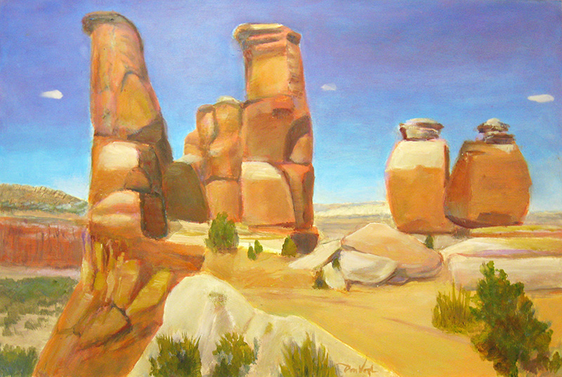 Orange SentinelsUtah (Oil, landscapes) - Fine Art by Donald G. Vogl, Fort Collins, Colorado