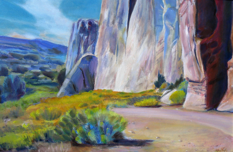 Palisades Capitol ReefUtah (Acrylic and Oil, landscapes) - Fine Art by Donald G. Vogl, Fort Collins, Colorado