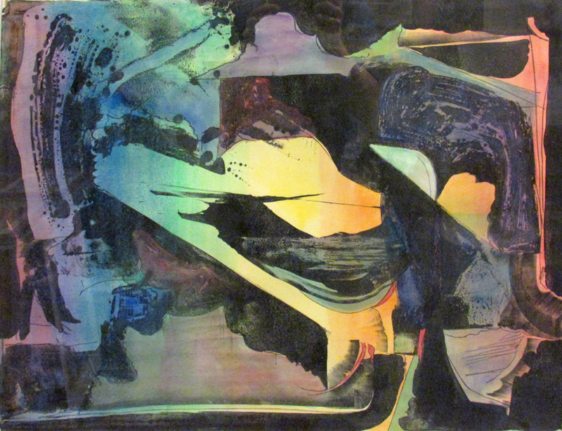 Paradis (Lithograph, abstracts) - Fine Art by Donald G. Vogl, Fort Collins, Colorado