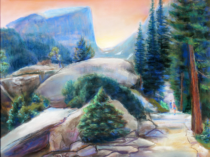Path to Hallett PeakRocky Mountain National Park, Colorado (Pastel, landscapes) - Fine Art by Donald G. Vogl, Fort Collins, Colorado