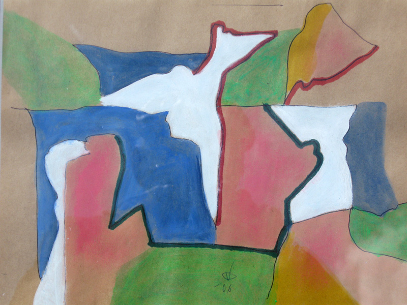 Performance (Mixed medium, abstracts) - Fine Art by Donald G. Vogl, Fort Collins, Colorado