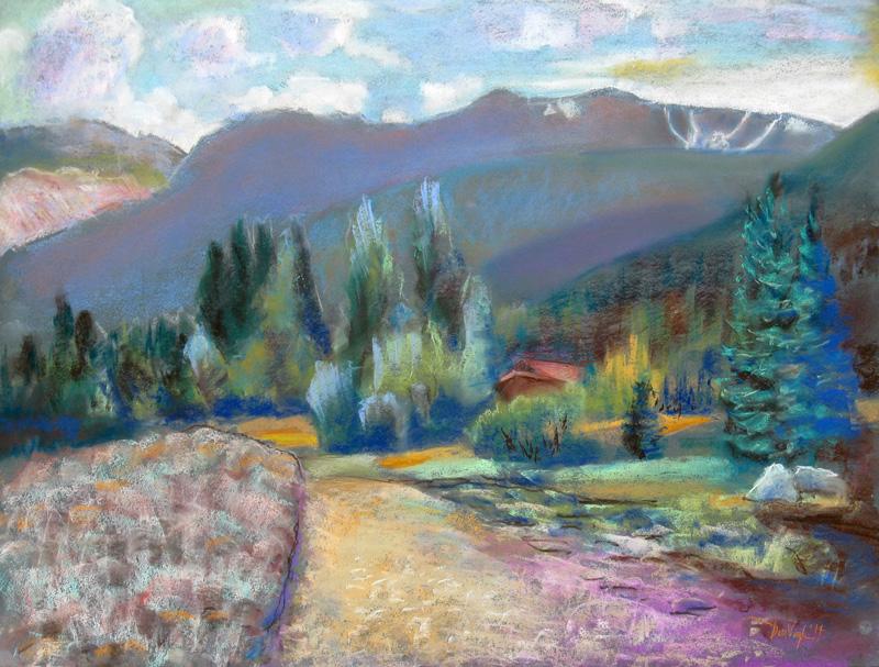 Pingree ViewPingree Park, Colorado (Pastel, landscapes) - Fine Art by Donald G. Vogl, Fort Collins, Colorado