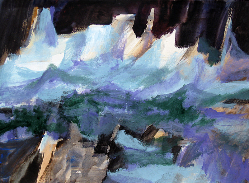 Pinnacles (Acrylic, abstracts) - Fine Art by Donald G. Vogl, Fort Collins, Colorado