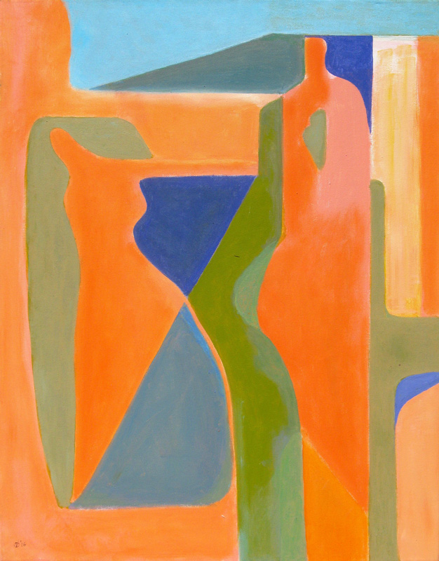 Playing the Part (Acrylic, abstracts) - Fine Art by Donald G. Vogl, Fort Collins, Colorado
