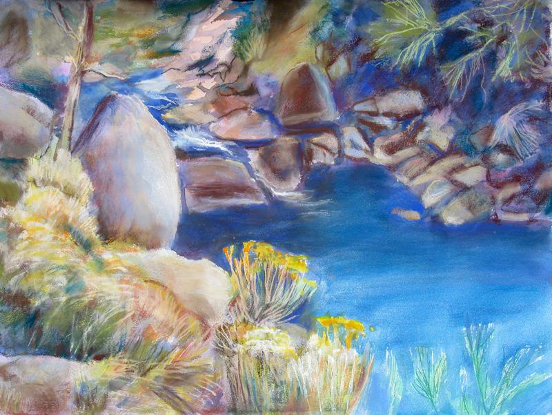 Poudre RiverFort Collins, Colorado (Watercolor, landscapes) - Fine Art by Donald G. Vogl, Fort Collins, Colorado