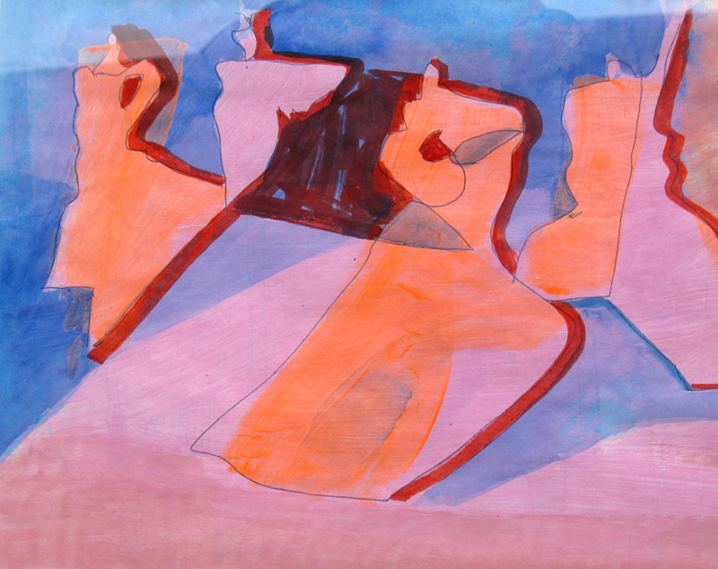Quartet (Mixed Media, abstracts figures) - Fine Art by Donald G. Vogl, Fort Collins, Colorado