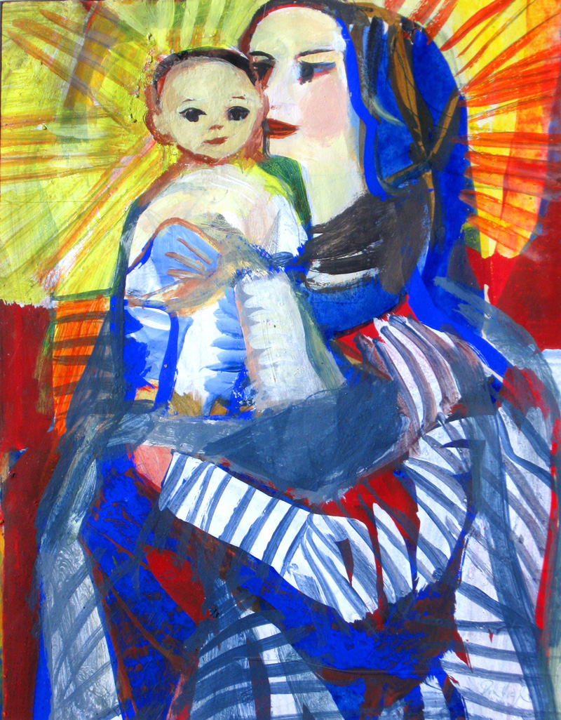 Radiant Madonna (Acrylic, portraits christian) - Fine Art by Donald G. Vogl, Fort Collins, Colorado