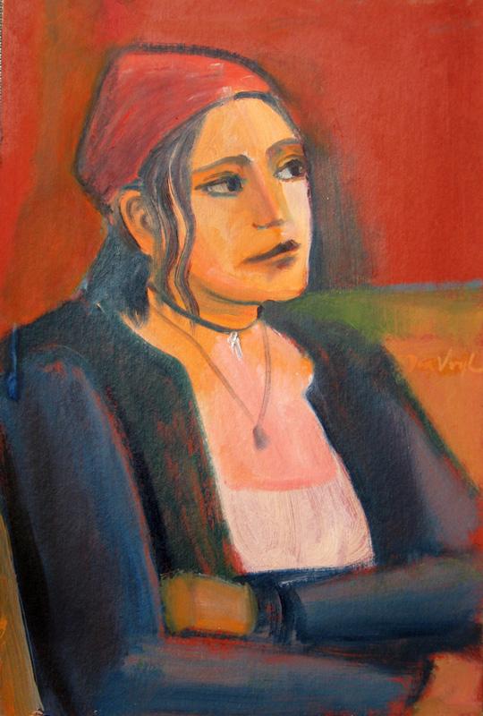 Red Cap (Oil, portraits) - Fine Art by Donald G. Vogl, Fort Collins, Colorado