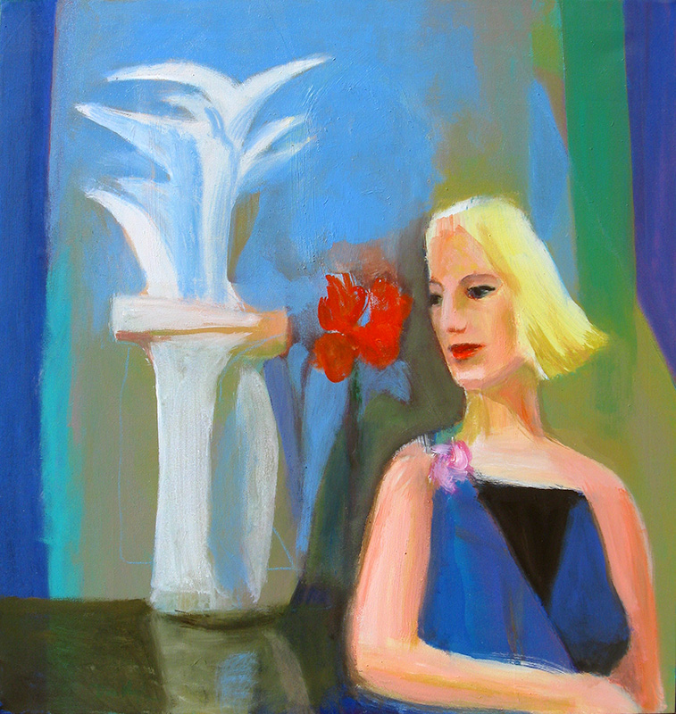 Reverie (Acrylic, abstracts figures) - Fine Art by Donald G. Vogl, Fort Collins, Colorado