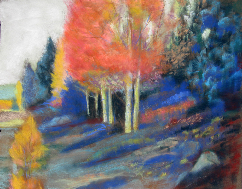Roadside SplendorColorado (Pastel, landscapes) - Fine Art by Donald G. Vogl, Fort Collins, Colorado