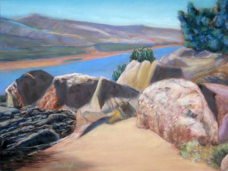 Rock Formations, Horsetooth RockFort Collins, Colorado (Pastel, landscapes) - Fine Art by Donald G. Vogl, Fort Collins, Colorado