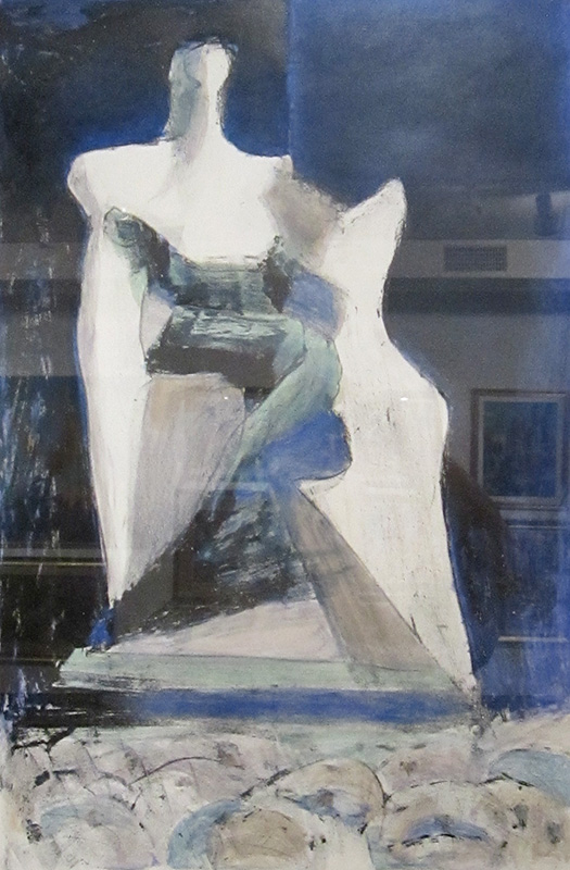 Royal Figure (Hand Colored Lithograph, abstracts figures monochromes) - Fine Art by Donald G. Vogl, Fort Collins, Colorado