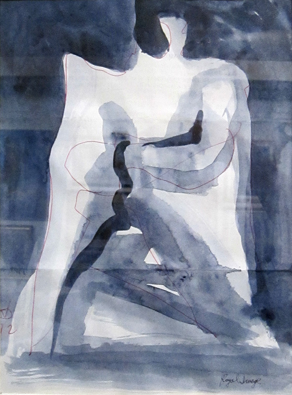 Royal Image (Sketch and Acrylic, abstracts figures monochromes) - Fine Art by Donald G. Vogl, Fort Collins, Colorado
