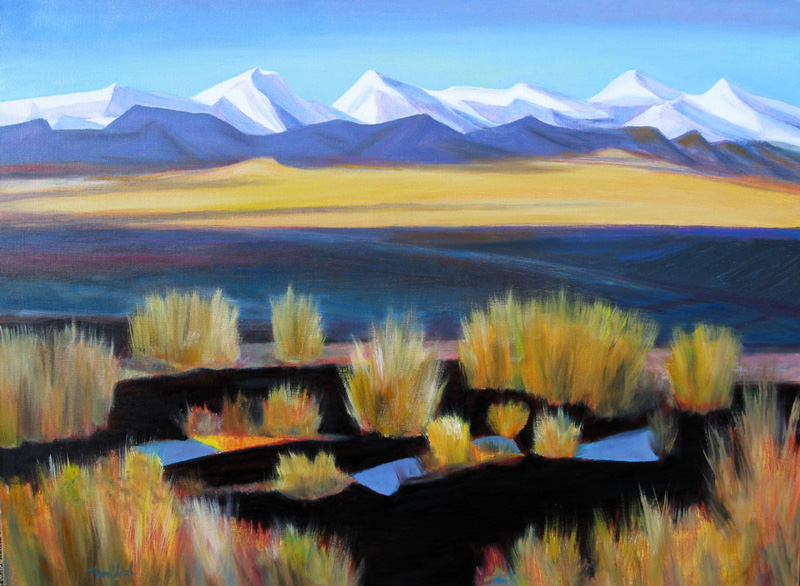 Sangre de Cristo MountainsColorado (Acrylic and Oil, landscapes) - Fine Art by Donald G. Vogl, Fort Collins, Colorado