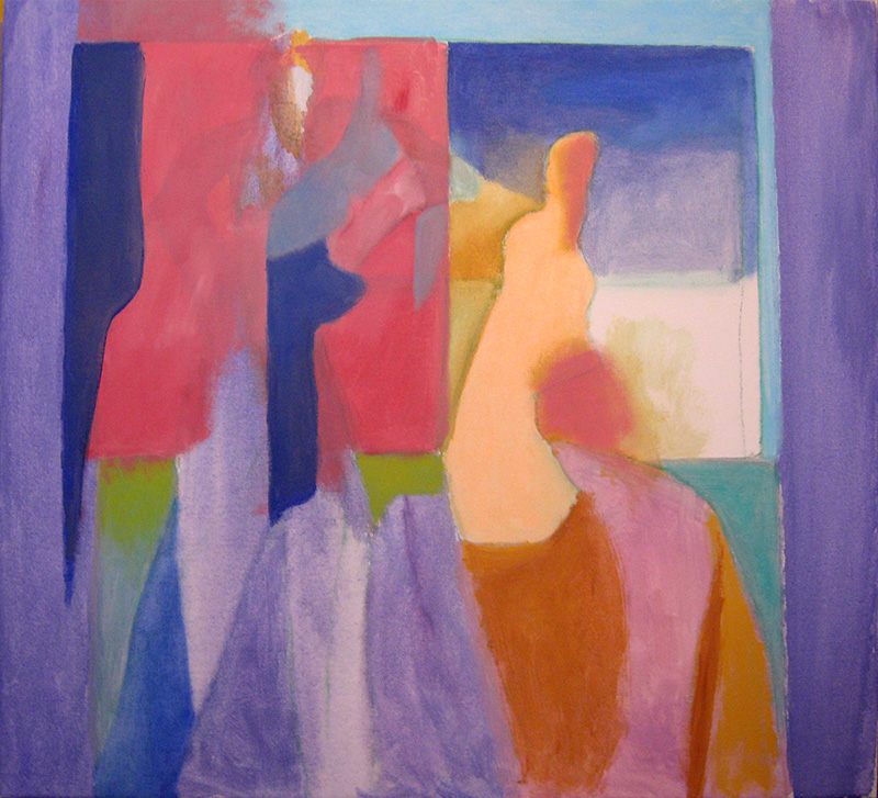 Searching (Acrylic, abstracts figures) - Fine Art by Donald G. Vogl, Fort Collins, Colorado