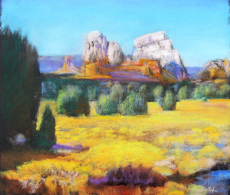 Back and BeyondSedona, Arizona (Pastel, landscapes) - Fine Art by Donald G. Vogl, Fort Collins, Colorado
