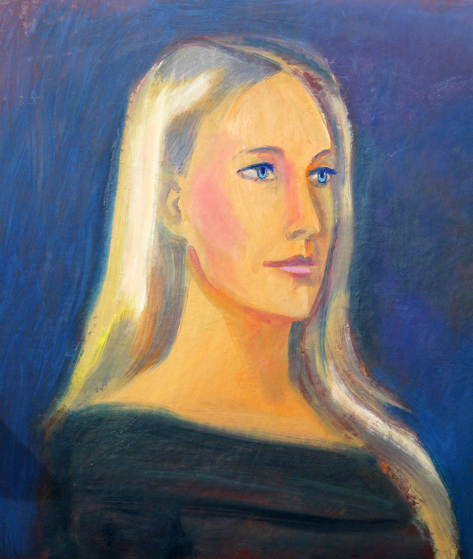 Serene (Oil, portraits) - Fine Art by Donald G. Vogl, Fort Collins, Colorado