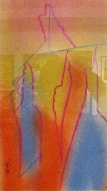 Sky Shield (Spray and Markers, abstracts) - Fine Art by Donald G. Vogl, Fort Collins, Colorado