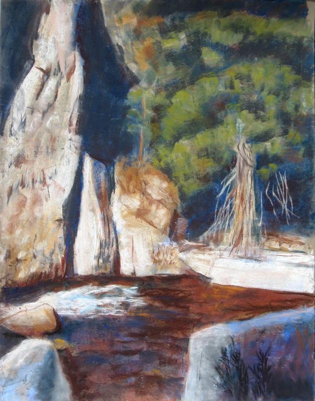 Slow RapidsColorado (Pastel, landscapes) - Fine Art by Donald G. Vogl, Fort Collins, Colorado