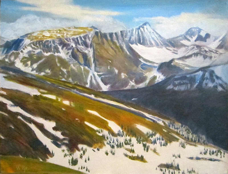 Snow MeltTrail Ridge, Rocky Mountain National Park, Colorado (Oil, landscapes) - Fine Art by Donald G. Vogl, Fort Collins, Colorado