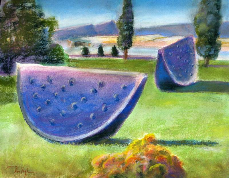 WatermelonSpring Canyon Park, Fort Collins, Colorado (Watercolor and Pastel, landscapes) - Fine Art by Donald G. Vogl, Fort Collins, Colorado